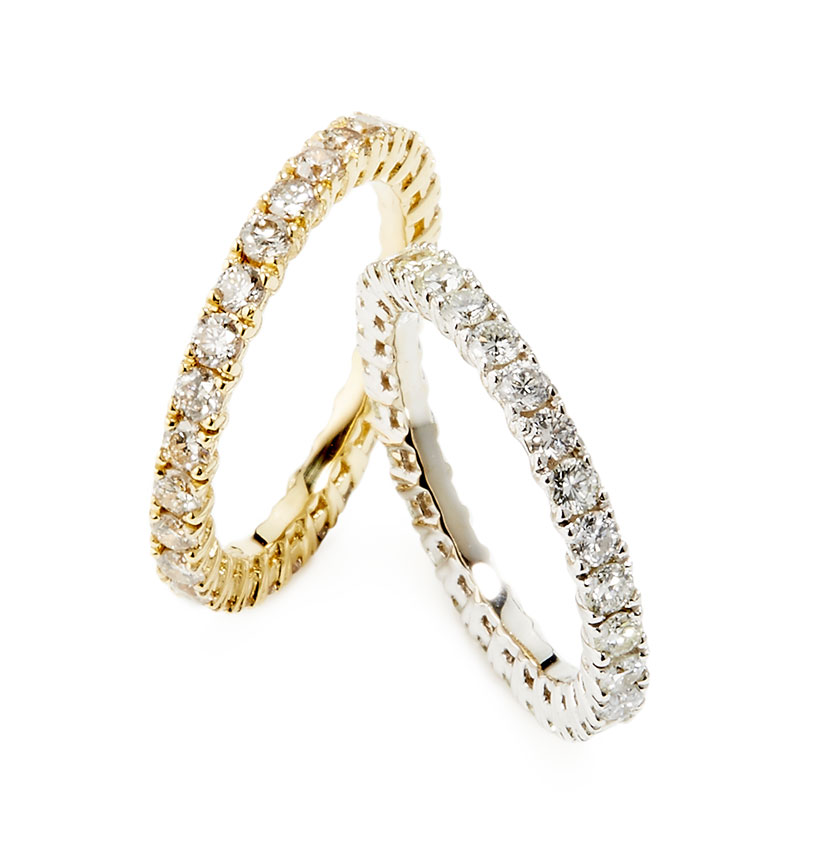 Bands with Gold Diamonds