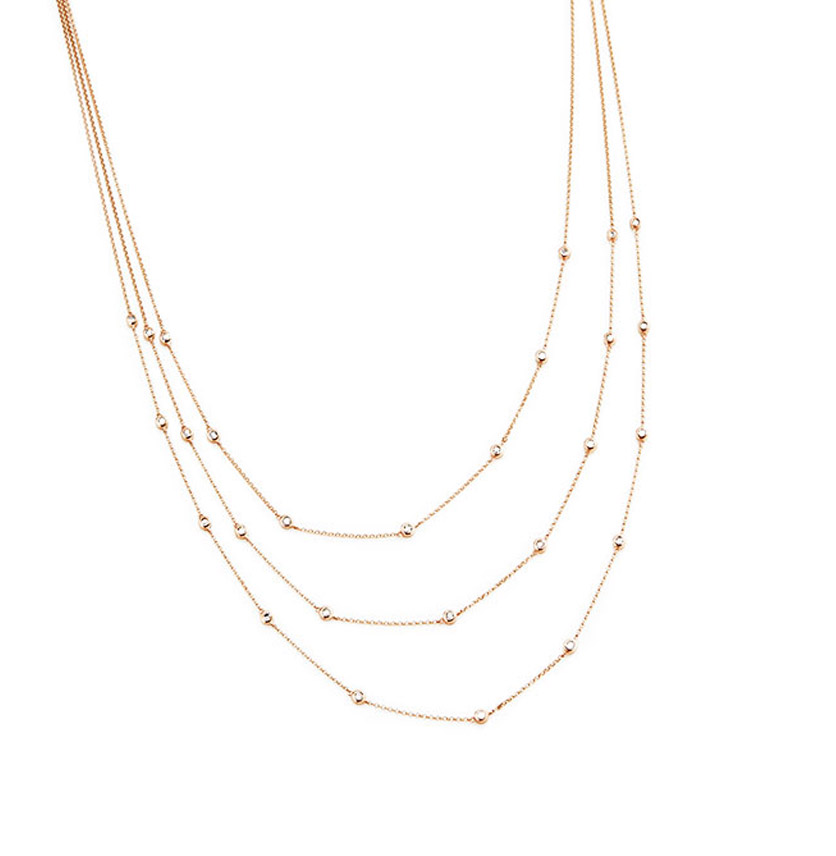 Triple Lariat Diamond Necklace