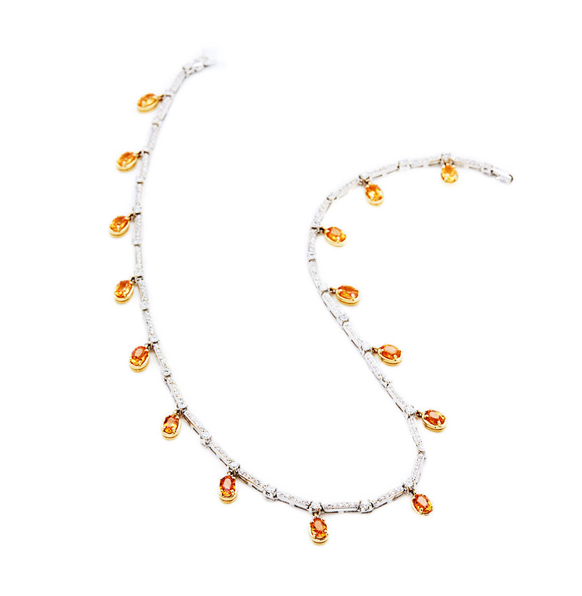 Mandarine Garnet Neckpiece