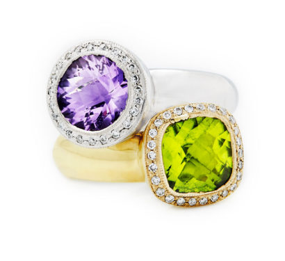 Coloured Stack Rings