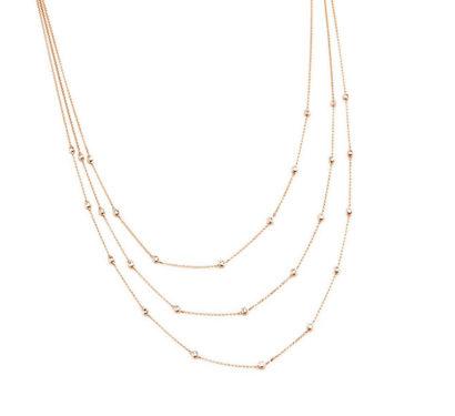 Triple Lariat Diamond Necklace